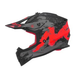 "Casque Nox ""N633"" Trash Rouge"